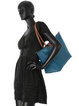 Longchamp Le pliage Besace Bleu-vue-porte