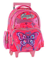 Sac A Dos A Roulettes Miniprix Rose girl 14Q-110T