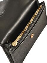 Porte-cartes Cuir Coach Noir wallet 55749-vue-porte