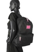 Sac à Dos 1 Compartiment Superdry Noir backpack woomen G91001DP-vue-porte