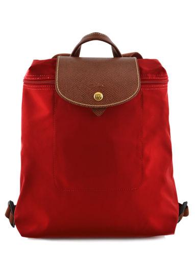 Longchamp Sac à dos Rouge