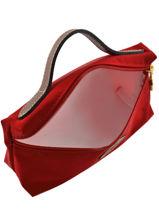 Longchamp Clutch Rood-vue-porte