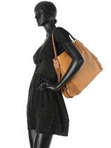 Sac Shopping Edie Cuir Coach Marron edie 57647-vue-porte