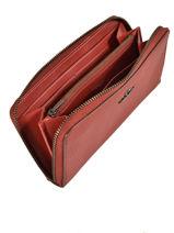 Portefeuille Cuir Coach Rouge wallet 58059-vue-porte