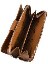 Longchamp Le pliage cuir Portefeuille Bleu-vue-porte