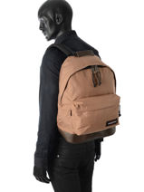 Sac à Dos 1 Compartiment Eastpak Beige authentic K811-vue-porte