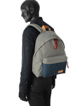 Sac à Dos Eastpak Gris authentic K620QU-vue-porte