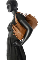 Sac Shopping Rayon D Cuir Gerard darel Marron rayon d DES07402-vue-porte