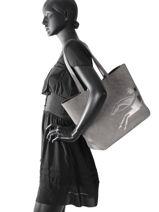 Longchamp Sac porté main Gris-vue-porte