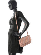 Sac Bandoulière K Iconic Pearl Cuir Karl lagerfeld Rose k iconic pearl 76KW3024-vue-porte