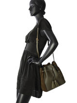 Longchamp Sac porté travers Vert-vue-porte