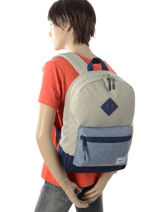 Sac à Dos 1 Compartiment Herschel Beige youth 10312-vue-porte