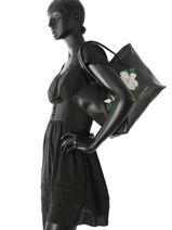 Sac Porté épaule A4 Magnolia Lancaster Noir magnolia 517-23-vue-porte
