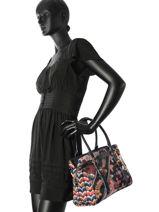 Sac Shopping Retro Fresh Desigual Noir retro fresh 17WAXFCB-vue-porte