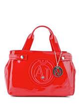 Cabas Vernice Lucida Verni Armani jeans Rouge vernice lucida 529B-55