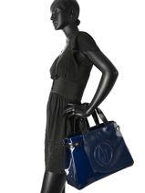 Cabas Vernice Lucida Verni Armani jeans Bleu vernice lucida C522F-U2-vue-porte