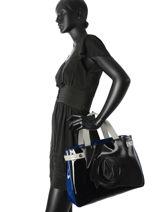 Cabas Vernice Lucida Verni Armani jeans Noir vernice lucida C522F-U2-vue-porte