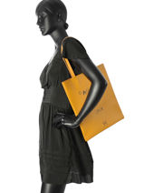 Shoppingtas A4 Flat Bag Woomen Geel flat bag WFB001D-vue-porte