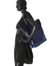 Sac Cabas Ninon Sequin Mila louise Bleu sequin 23878Q-vue-porte