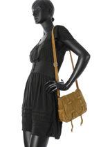 Sac Bandoulière Bess Mila louise Jaune vintage 3017V-vue-porte