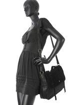 Sac Bandouliere Vintage Mila louise Noir vintage 3150SV-vue-porte