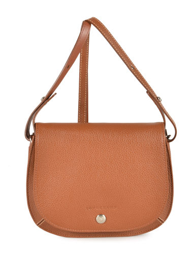 Longchamp Le foulonné Sac porté travers Marron