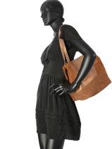 Sac Shopping Omere Vintage Mila louise Marron vintage 3267HSV-vue-porte