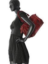 Sac Shopping Velvet Stampa Cuir Milano Rouge velvet stampa V3160615-vue-porte