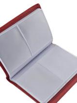 Porte-cartes Cuir Etrier Rouge blanco 600023-vue-porte