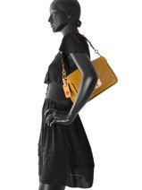 Longchamp Besace Jaune-vue-porte