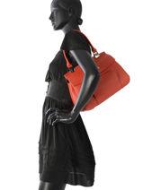 Longchamp Longchamp madeleine Besace Rouge-vue-porte