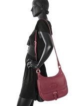 Longchamp Sac porté travers Rouge-vue-porte