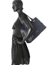 Sac Shopping Etampes Liu jo Bleu etampes N67142-vue-porte