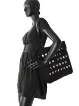Sac Cabas A4 Women Bags Superdry Noir women bags G91001OP-vue-porte