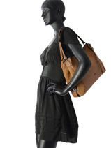 Sac Shopping Edie Cuir Coach Marron edie 59500-vue-porte