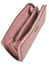 Portefeuille Leder Coach Roze wallet 58059-vue-porte