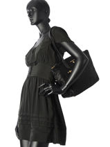 Sac Shopping Nylon Kelsey Michael kors Noir nylon kelsey F7GO2T2J-vue-porte