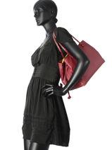 Sac Shopping Classic Line Cuir La pomme de loveley Rouge classic line B15-13EX-vue-porte