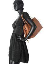 Sac Shopping Classic Line Cuir La pomme de loveley Marron classic line B15-13EX-vue-porte