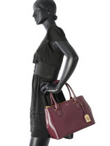 Sac Porté Main New Bury Lauren ralph lauren Marron new bury 31504369-vue-porte