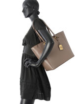 Sac Porté épaule A4 New Bury Lauren ralph lauren Marron new bury 31624307-vue-porte