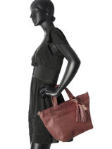 Cabas Easy Going Cuir Cowboysbag Rouge easy going 1923-vue-porte