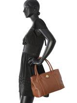 Cabas Fashion Cuir La pomme de loveley Marron fashion LPF17-83-vue-porte