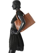 Sac Cabas Fashion Cuir La pomme de loveley Marron fashion LPF17-84-vue-porte