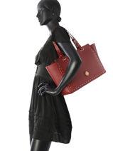 Sac Trapeze Fashion Cuir La pomme de loveley Rouge fashion LPF17-87-vue-porte