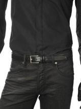Ceinture Ajustable Petit prix cuir Noir sport 1080T-vue-porte