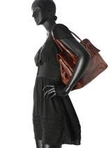 Sac Shopping Sturdy Romance Cuir Cowboysbag Marron sturdy romance 1079-vue-porte