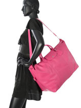 Longchamp Le foulonné Sac de voyage Rose-vue-porte