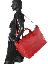 Longchamp Sac de voyage Rouge-vue-porte