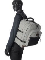 Sac à Dos 2 Compartiments Eastpak Gris pbg authentic PBGK050-vue-porte